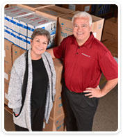 Current Ink Technologies' owners, Linda and Mike Davis