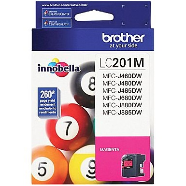Genuine Brother LC201M Magenta Ink Cartridges