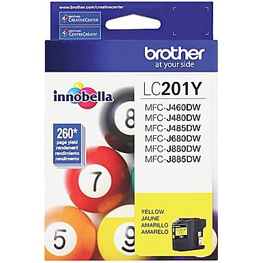 Genuine Brother LC201Y Yellow Ink Cartridge