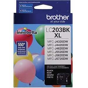 LC203BK Ink Cartridge - Brother Genuine OEM (Black)