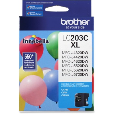 LC203C Ink Cartridge - Brother Genuine OEM (Cyan)