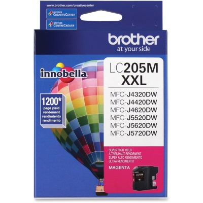 LC205M Ink Cartridge - Brother Genuine OEM (Magenta)