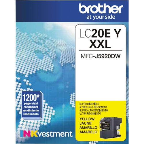 LC20EY Ink Cartridge - Brother Genuine OEM (Yellow)