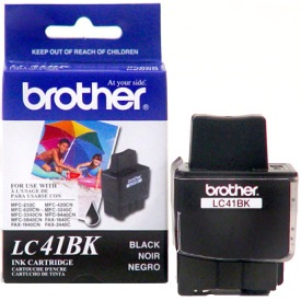 LC41BK Ink Cartridge - Brother Genuine OEM (Black)