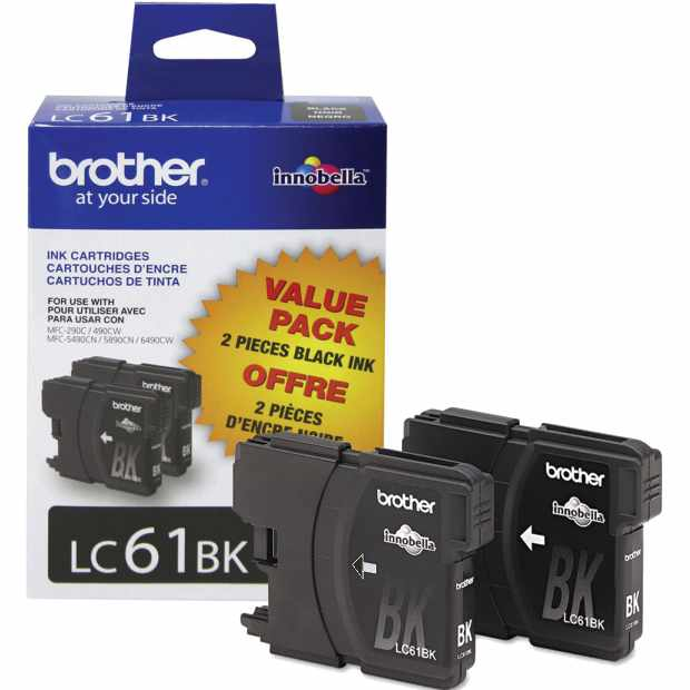 LC612PKS Ink Cartridge - Brother Genuine OEM (Black)