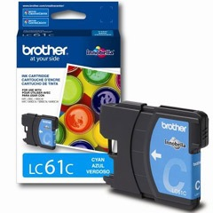 Genuine Brother LC61C Cyan Ink Cartridge