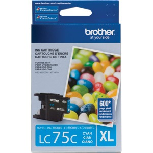 LC75C Ink Cartridge - Brother Genuine OEM (Cyan)