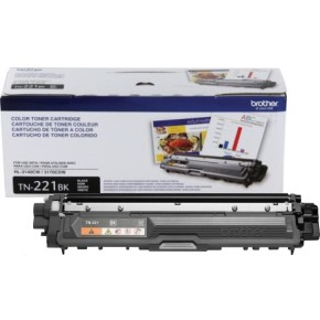 TN221BK Toner Cartridge - Brother Genuine OEM (Black)