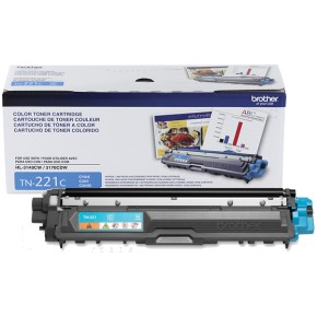 TN221C Toner Cartridge - Brother Genuine OEM (Cyan)