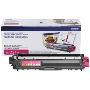 TN221M Toner Cartridge - Brother Genuine OEM (Magenta)