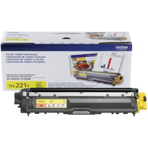 TN221Y Toner Cartridge - Brother Genuine OEM (Yellow)
