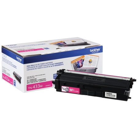 TN433M Toner Cartridge - Brother Genuine OEM (Magenta)