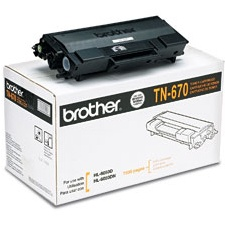 Genuine Brother TN670 Black Toner Cartridge