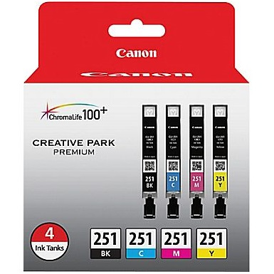 6513B004 Ink Cartridge - Canon Genuine OEM (Bundle Pack)