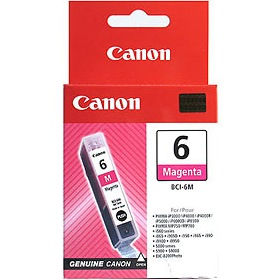 BCI-6M Ink Cartridge - Canon Genuine OEM (Magenta)