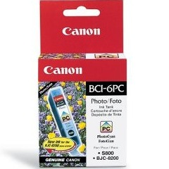 Genuine Canon BCI-6PC Photo Cyan Ink Cartridge