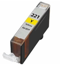 CLI-221Y Ink Cartridge - Canon Compatible (Yellow)