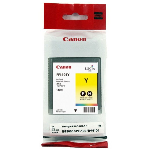 Genuine Canon PFI-101Y Yellow Ink Cartridge