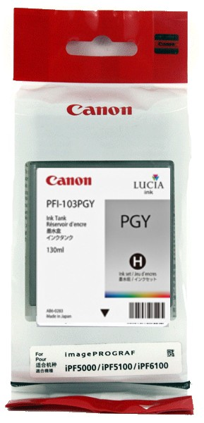 Genuine Canon PFI-103PGY Photo Gray Ink Cartridge