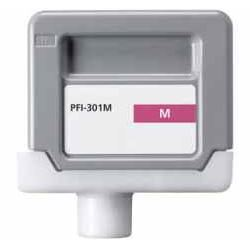 Compatible Canon PFI-301M Magenta Ink Cartridge