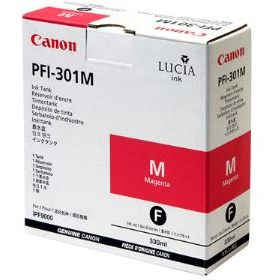 PFI-301M Ink Cartridge - Canon Genuine OEM (Magenta)