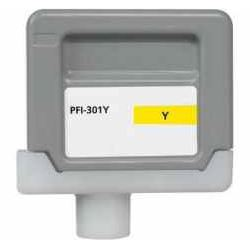 Compatible Canon PFI-301Y Yellow Ink Cartridge