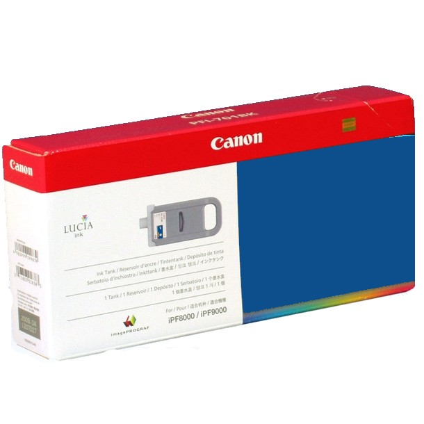 PFI-701B Ink Cartridge - Canon Genuine OEM (Blue)