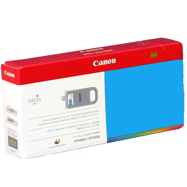 PFI-701C Ink Cartridge - Canon Genuine OEM (Cyan)