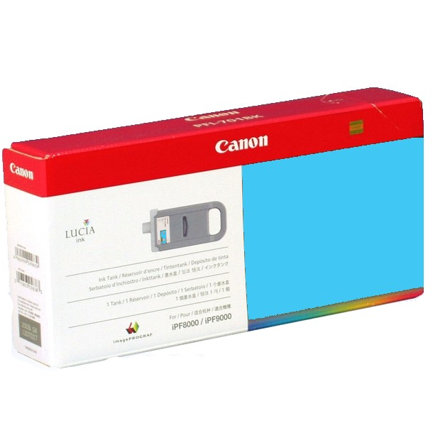 PFI-701PC Ink Cartridge - Canon Genuine OEM (Photo Cyan)