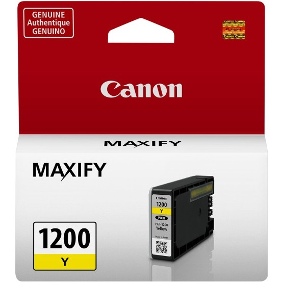 PGI-1200Y Ink Cartridge - Canon Genuine OEM (Yellow)