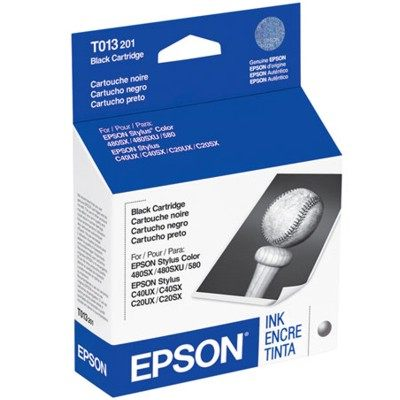 Genuine Epson T013201 Black Ink Cartridge