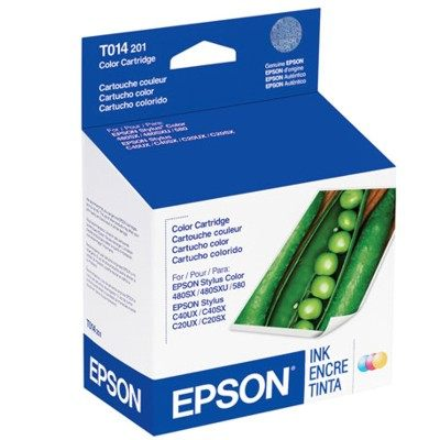Genuine Epson T014201 Color Ink Cartridge