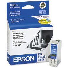 Genuine Epson T026201 Black Ink Cartridge