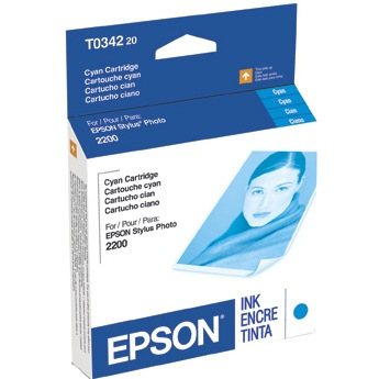 Genuine Epson T034220 Cyan Ink Cartridge