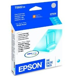 Genuine Epson T060220 Cyan Ink Cartridge