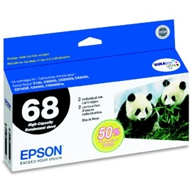 Genuine Epson T068120 Black Ink Cartridge