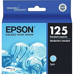 Genuine Epson T125220 Cyan Ink Cartridge