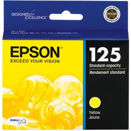 T125420 Ink Cartridge - Epson Genuine OEM (Yellow)