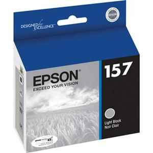 T157720 Ink Cartridge - Epson Genuine OEM (Light Black)