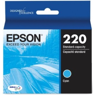 T220220 Ink Cartridge - Epson Genuine OEM (Cyan)
