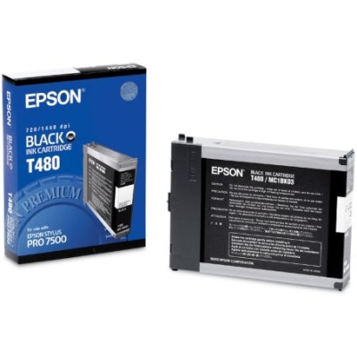 Genuine Epson T480011 Black Ink Cartridge