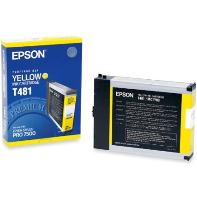 Genuine Epson T481011 Yellow Ink Cartridge
