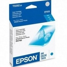 Genuine Epson T559220 Cyan Ink Cartridge
