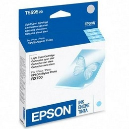Genuine Epson T559520 Light Cyan Ink Cartridge