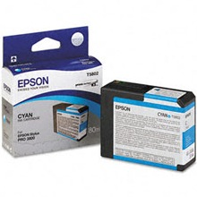 T580200 Ink Cartridge - Epson Genuine OEM (Cyan)