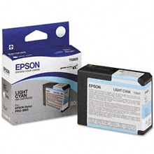 Genuine Epson T580500 Light Cyan Ink Cartridge
