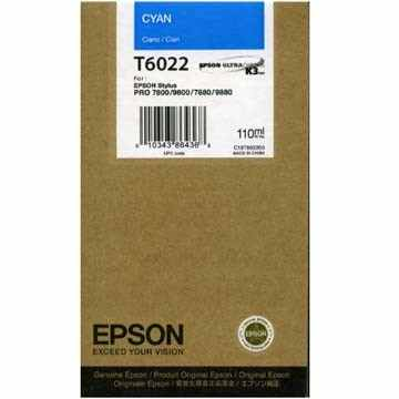 Genuine Epson T602200 Cyan Ink Cartridge