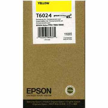 Genuine Epson T602400 Yellow Ink Cartridge