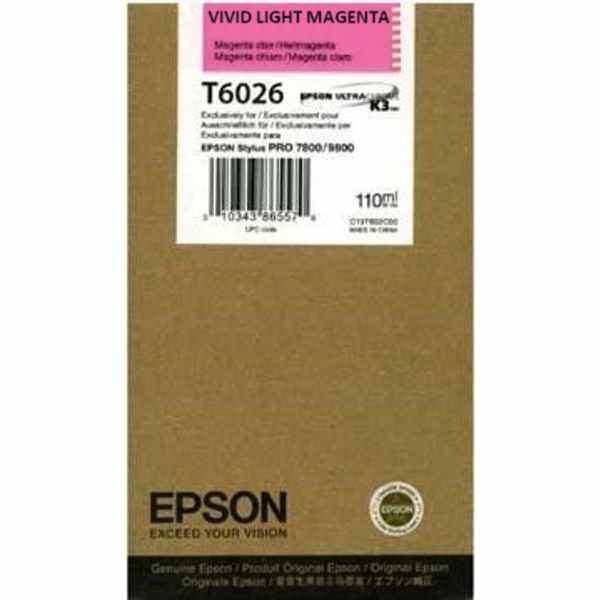 Genuine Epson T602600 Light Magenta Ink Cartridge