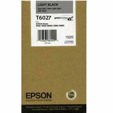 Genuine Epson T602700 Light Black Ink Cartridge
